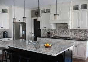 Kitchen Countertop Ideas With White Cabinets White Ice Granite Countertops For A Fantastic Kitchen Decor