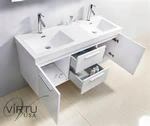 Virtu Usa Midori 54 Inch Grey Double Sink Bathroom Vanity Set Free » Ideas Home Design