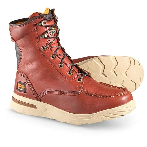 s timberland pro 174 8 quot hombre wedge boots brown