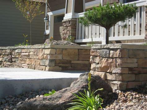 stone veneer retaining wall stone retaining wall pinterest