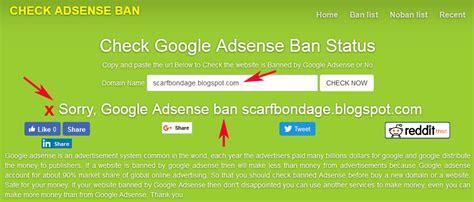 adsense ban check banned adsense indonesia cara cek banned disabled google