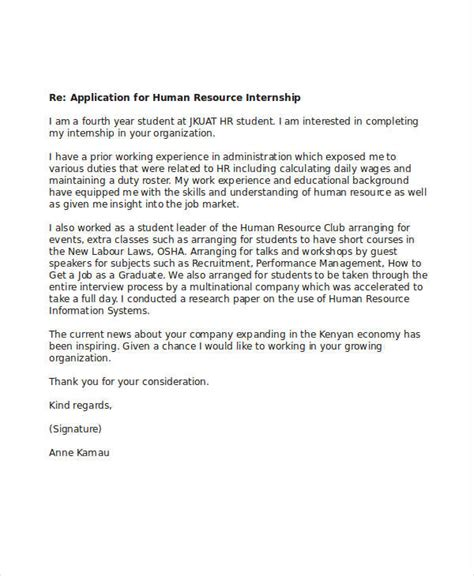 application letter for internship 6 internship application letters free word pdf