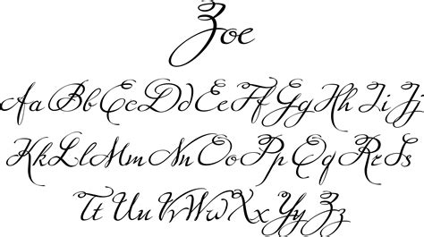 tattoo fonts up and down zoe font a script that has a even flow