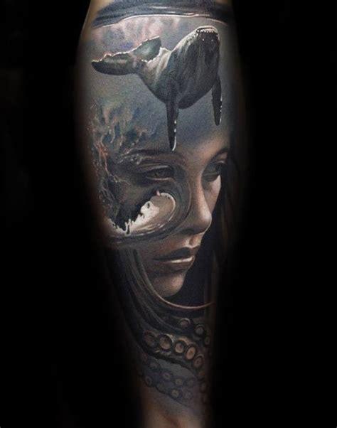 girl face whale tattoo golfiancom