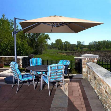 santorini ii cantilever umbrella side post patio