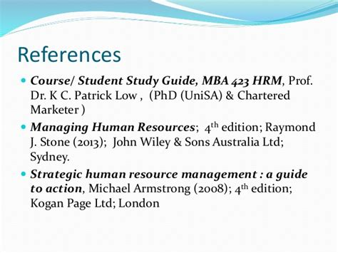 Human Resource Management For Mba Students 2nd Edition Pdf by Strategic Human Resource Management Shrm Mba 423 Human