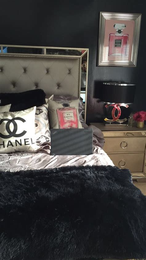 chanel themed bedroom decor  room   home