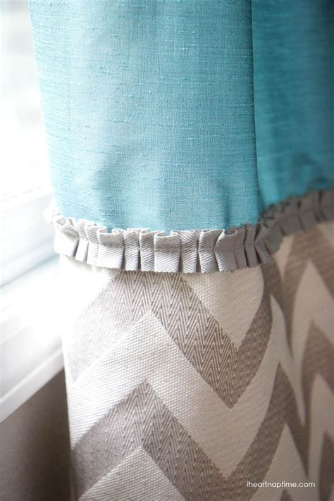 Diy Back Tab Curtains Ruffle Trim Nap Times And Fabrics