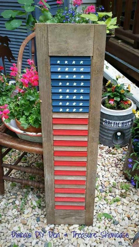 shutter flag diy shutters patriotic crafts patriotic