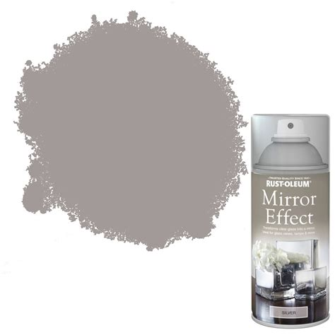 spray paint mirror rust oleum silver mirror spray paint 150ml departments