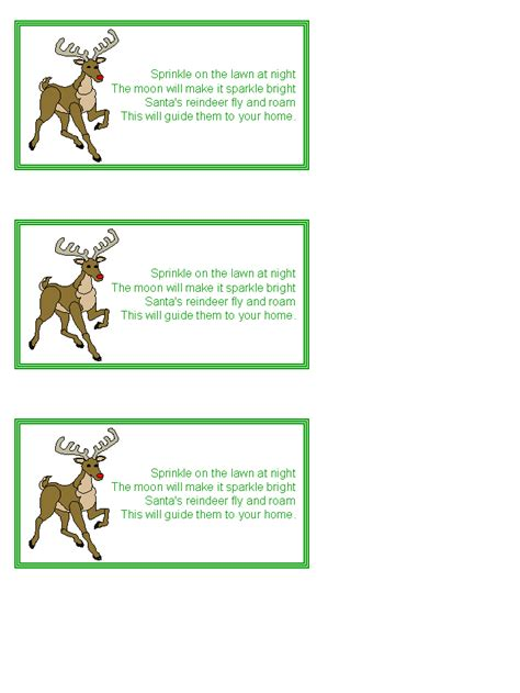 printable reindeer chow gift tag search results for magic reindeer food template