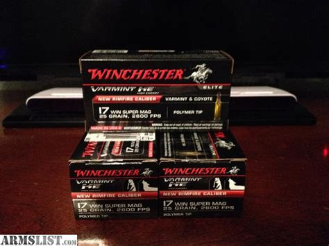 17 winchester super mag able ammo armslist for sale 17 winchester super magnum ammo