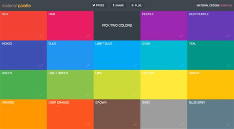 Material Design Color Schemes | 4 tools for creating brilliant material design color pallets
