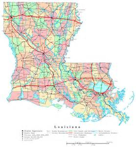 state of map showing cities large detailed administrative map of louisiana state with