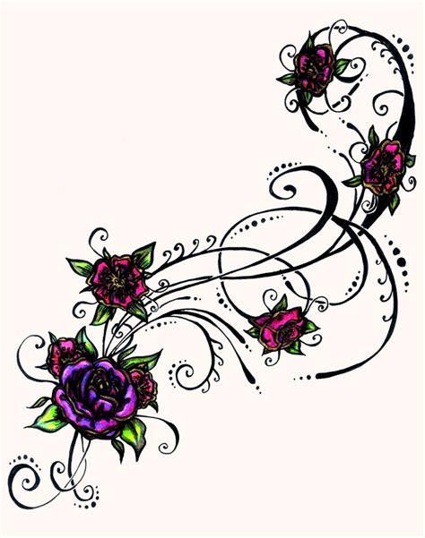 pretty flower tattoo designs tribal design beautiful ink