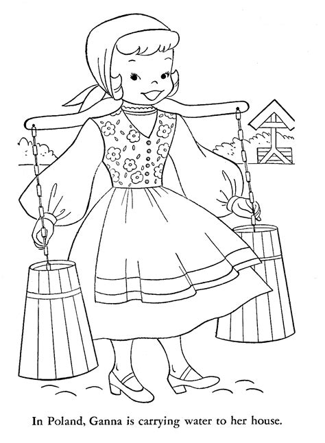 polish folk art coloring pages coloring pages