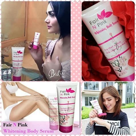 Fair N Pink Whitening Serum jual fair n pink whitening serum pemutih badan