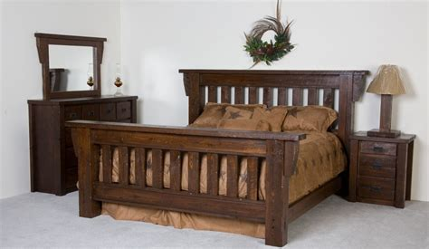 barn wood bed frame crafted timberwood barnwood bed frame by viking log