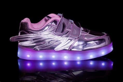 purple light up shoes kids led light up shoes wings purple sale for cheap