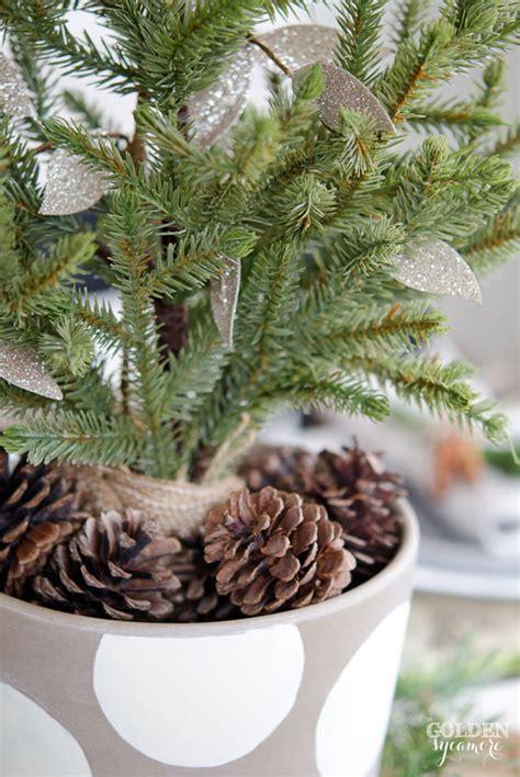 miniature evergreen christmas centerpiece the golden