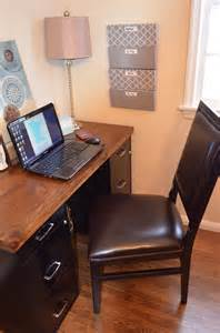 Diy Desk With File Cabinets An Inviting Home A Diy Desk