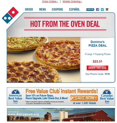 domino pizza email the 10 most innovative marketing emails of 2013