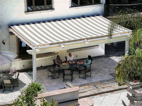 powered awnings retractable shade canopies structureworks
