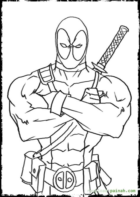 Coloring Page Deadpool by Deadpool Coloring Pages To And Print For Free