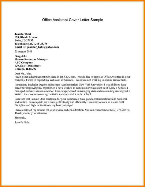 3 office assistant cover letter assistant cover letter