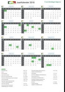 Kalender Februari 2018 Kalender 2018 Jaarkalender Belgie Verlengde Weekends