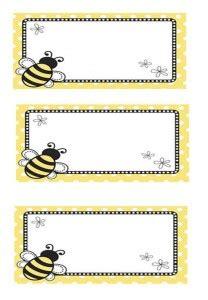 printable toddler name tags bee name tag 3 preschool name tag pinterest bees