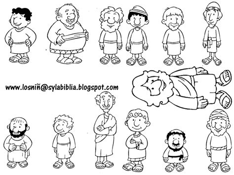 coloring pages of jesus disciples jesus and his disciples template bible class ideas