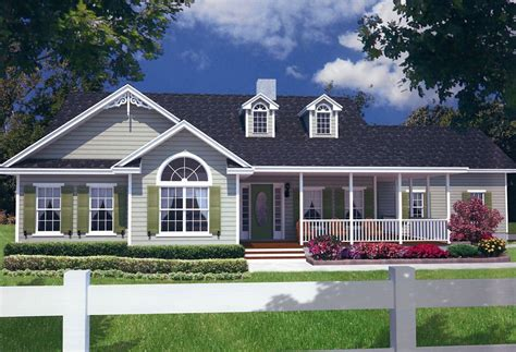 Country Style House With Wrap Around Porch 3 Bedroom 2 Bath Country House Plan Alp 099z Chatham