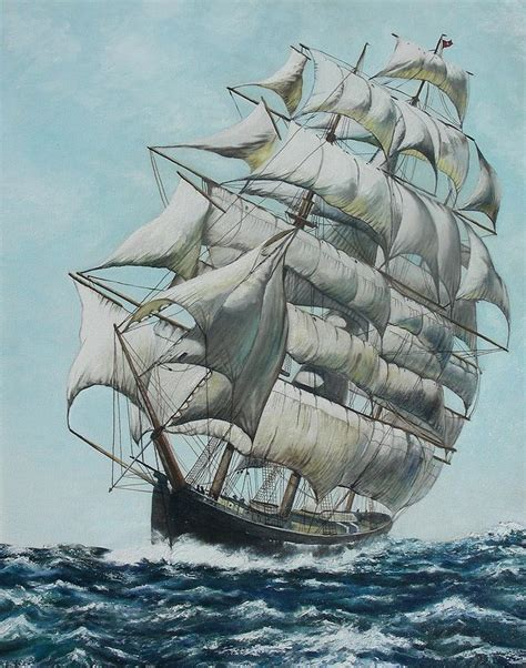 flying cloud boat clipper ship flying cloud painting by michael winston