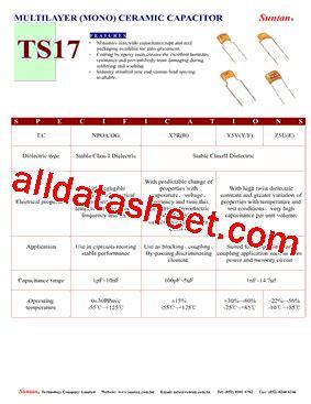 capacitor 100nf datasheet pdf ts17 datasheet pdf suntan capacitors