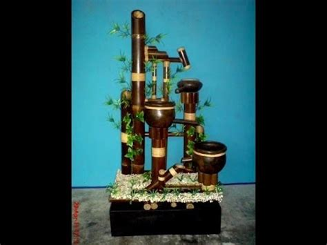 cara membuat kerajinan air mancur bambu membuat dekorasi kerajinan miniatur air mancur youtube