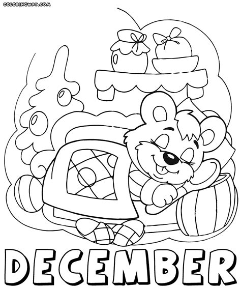 affordable month december with december coloring pages