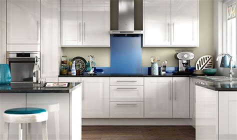 Wickes High Gloss Kitchen by Wickes Atlanta White Provides A Modern Take On The