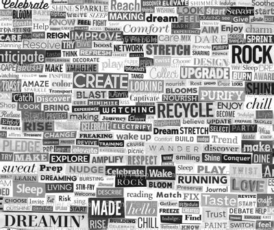 verb pattern white ransom note black and white verbs magazine cut paper