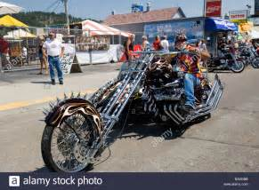 Motorcycle Rally Spiked Motorcycle And Sidecar Annual Sturgis