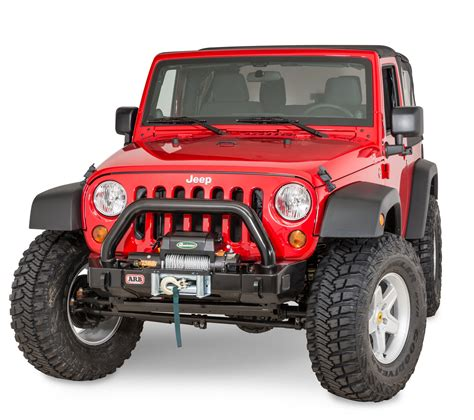 Arb Bumper Jeep Arb 3450430 Front Stubby Winch Bumper For 07 17 Jeep