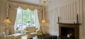 Designer swags and tails from designer curtains london