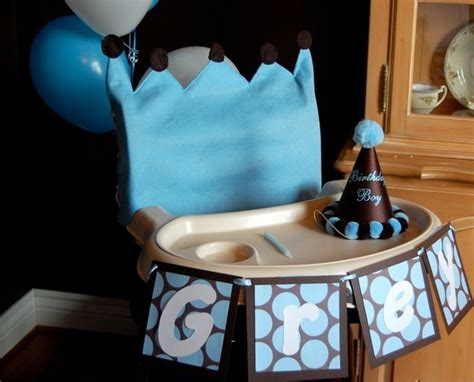 1st Birthday High Chair Cover by Baby Boy Prince Birthday High Chair Cover Birthday