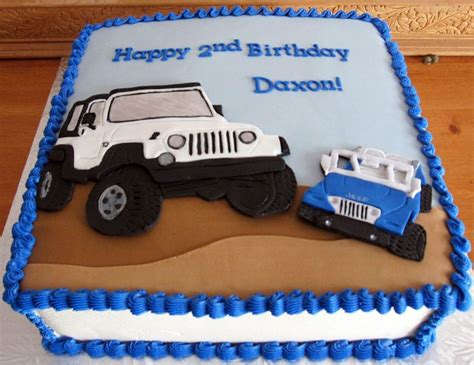 birthday jeep cake jeep birthday cake with 2d fondant cut outs cakes