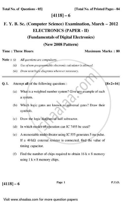 fundamentals  digital electronics   bsc
