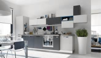 Grey And White Kitchen by Open Modern Kitchens With Few Pops Of Color
