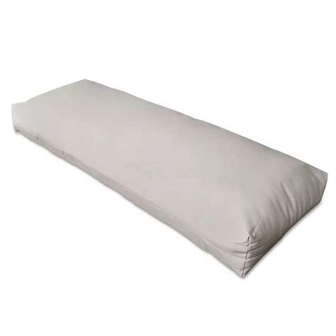 cuscino di cuscino di appoggio imbottito bianco sabbia 120 x 40 x 20