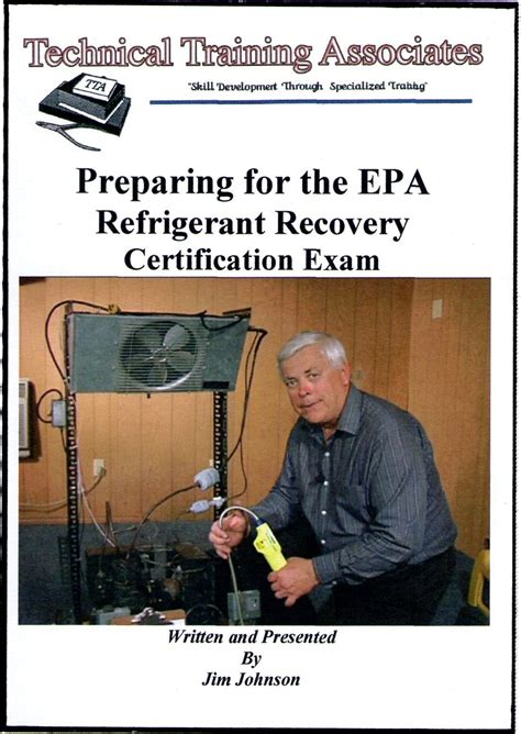 clean air act section 608 preparing for the epa refrigerant recovery certification