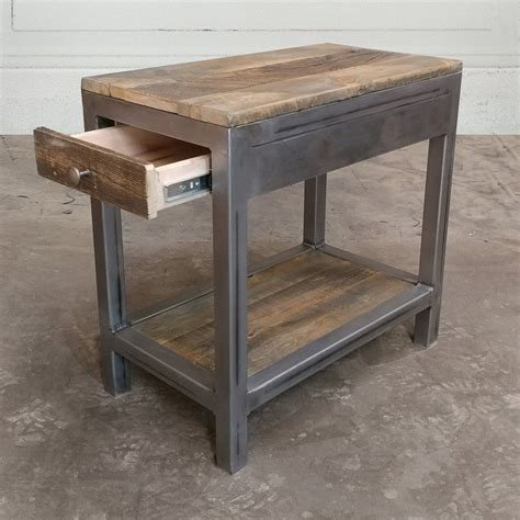 reclaimed wood and metal end table reclaimed wood and metal end table side table nightstand