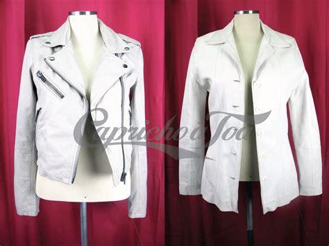 jaqueta de couro branca de moda do brech 243 capricho